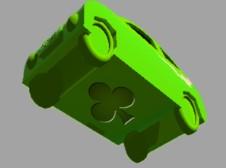 緑ミニカー