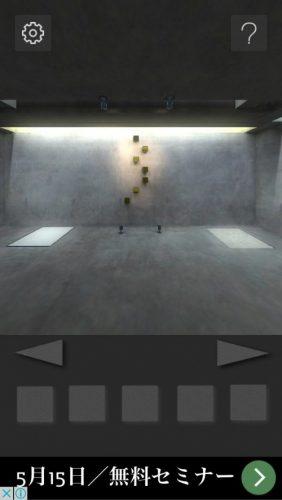 打放しコンクリートの部屋からの脱出 攻略 002