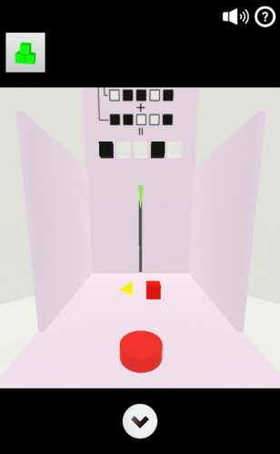 Cubes 攻略 その2(黒白ブロック入力~透明ブロック入手まで)