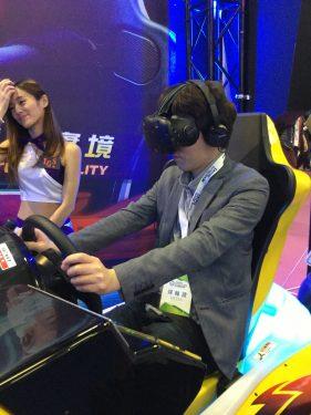 台北ゲームショウ2017 Day4 台湾企業のVRレースゲーム「OVER TAKE VR」が凄かった!