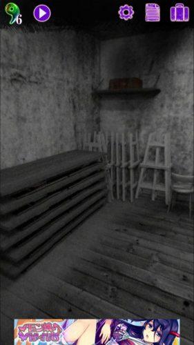美術館からの脱出 プレイルーム 攻略 その4(倉庫の絵の断片3入手~展示室1に移動まで)