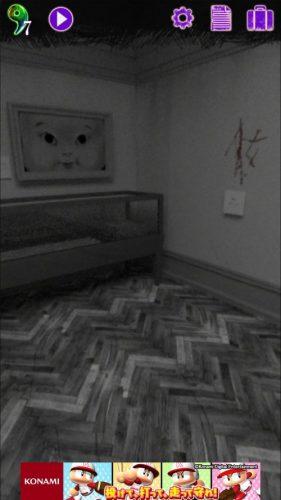 美術館からの脱出 プレイルーム 攻略 その6(額縁の謎~プレイルームに移動まで)