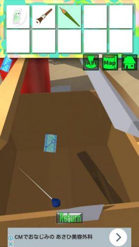 大きな部屋と小さな私2 攻略 STAGE2 その1(鉛筆入手~段ボール箱を開けるまで)