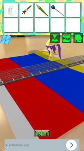 大きな部屋と小さな私2 攻略 STAGE2 その2(3色の紙確認~鍵をセットするまで)