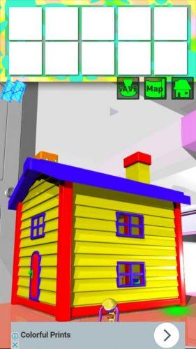 大きな部屋と小さな私2 攻略 STAGE6 その2(おもちゃの家に移動~脱出)