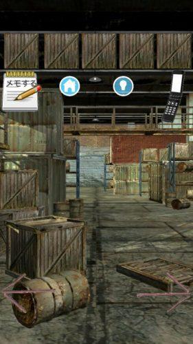 工場からの脱出 誘拐犯からの挑戦状 攻略 Stage2