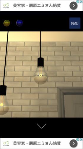 ガラス工房 綺麗なガラスが並ぶ工房からの脱出 攻略 その1(電球の謎まで)