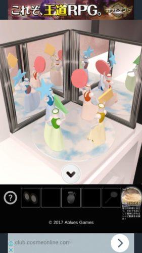 鏡の謎だらけのバレエ教室から脱出 攻略 その2(合わせ鏡入手~ホワイトボードの謎まで)