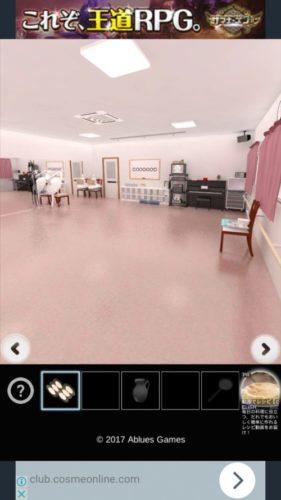 鏡の謎だらけのバレエ教室から脱出 攻略 その4(丸い鏡をセット~脱出)