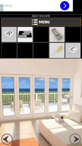 海の見える家からの脱出2 攻略 その4(取っ手の取り付け~LとRのボタンをはめるまで)