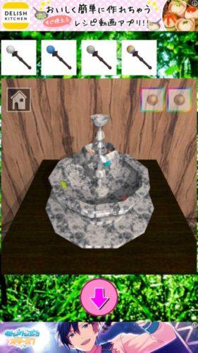 マジカルルーム 魔女認定試験 攻略 その6(噴水に杖使用~カラスの図形確認まで)