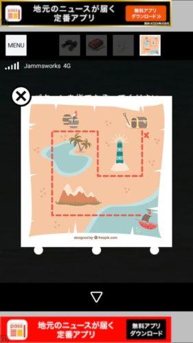 Aloha ハワイの海に浮かぶ家 攻略 その4(宝の地図の謎~スコップ入手まで)