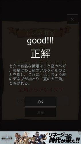 星空の廃城 攻略 その3(エントリーシートC)