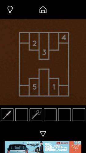 Fireplace 攻略 その2(ハサミ入手~写真立ての謎まで)