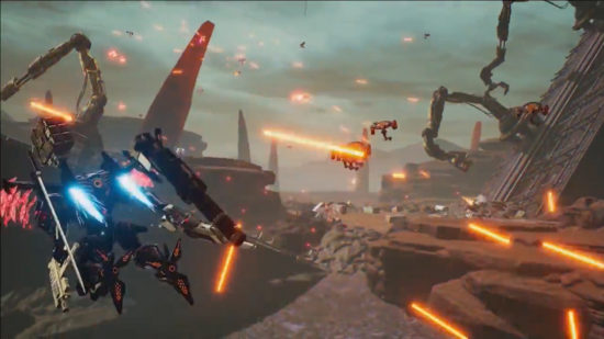 【Nintendo Direct: E3 2018】迫力のロボットバトル『DAEMON X MACHINA』が発表、発売は2019年を予定