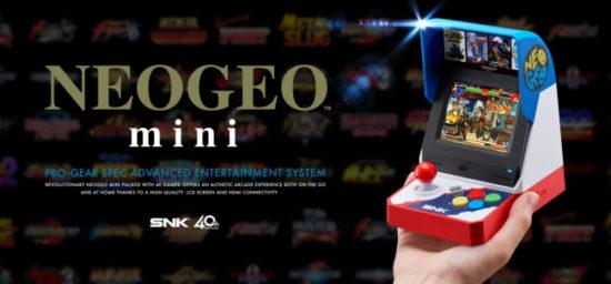 「NEOGEO mini」今夏発売決定!「キング・オブ・ファイターズ」や「餓狼伝説」など懐かしの40タイトルが収録!