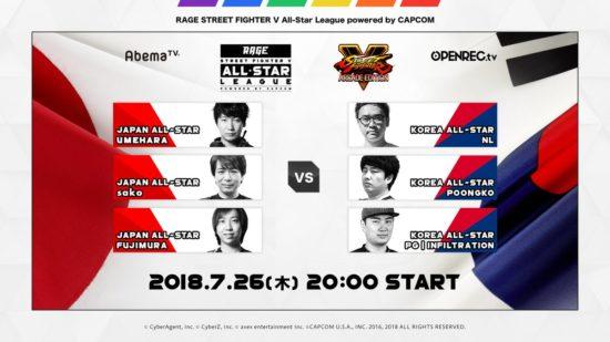 「RAGE STREET FIGHTER V」第10節試合結果 全試合最高の盛り上がり!これぞ格闘ゲームのエンターテイメント!