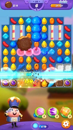 人気パズルゲーム「キャンディークラッシュ」シリーズの最新作「キャンディークラッシュフ レンズ」が本日リリース!