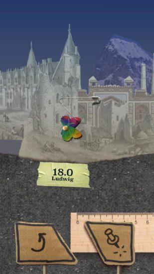 グラフィック素材は全て大英図書館の資料 コラージュ作品のようなスイングアクションゲーム「Verticow」