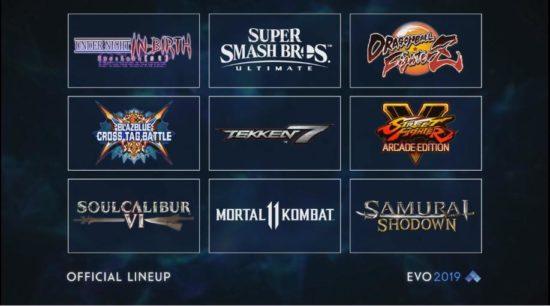 世界最大の格闘ゲーム大会「EVO 2019」メイン競技の9タイトルが発表、「スマブラSP」「ストリートファイターV」などが採用