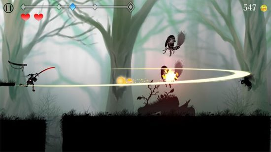 「和」と「刀」がテーマの横スクロールアクションゲーム『シルエット少女 斬』が2月6日より配信開始