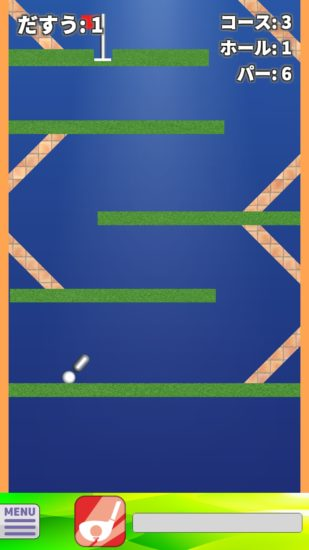 縦に進むゴルフアクションゲーム 「バーチカル・ゴルフ Vertical Golf」が3月12日よりGoogle Playで配信開始