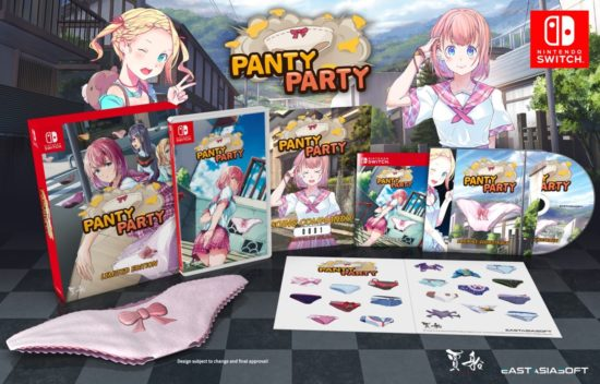 Nintendo Switch「パンティパーティー」のパッケージ版が予約受付開始、パンツやテーマソングCDなどがセットに