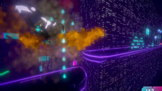 サイバーパンク×ニンジャ! 近未来の摩天楼を駆け抜けるランニングアクションゲーム「SLASHRUN」