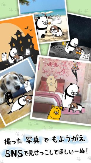 人気漫画「パンダと犬」の放置シミュレーションゲーム「パンダと犬 いつでも犬かわいーぬ」が配信開始