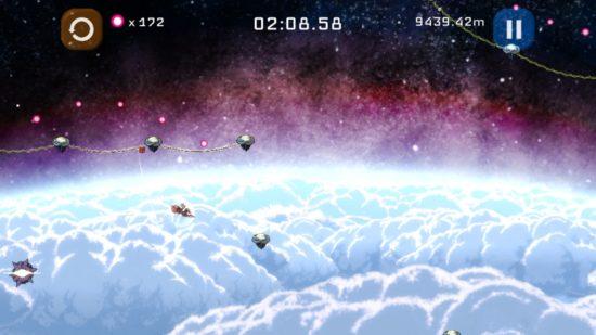 ワイヤーアクションゲーム「ワイアーム」がiOSで配信開始、ワイヤー1つで飛び回りゴールを目指す