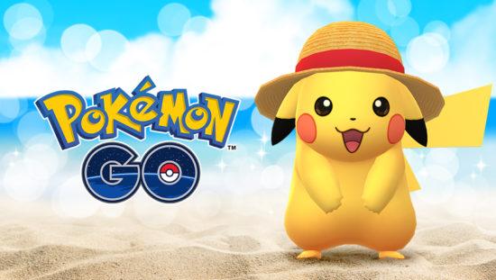 「ONE PIECE 熊本復興プロジェクト」に「Pokémon GO」が参加!ルフィの麦わら帽子を被るピカチュウが出現