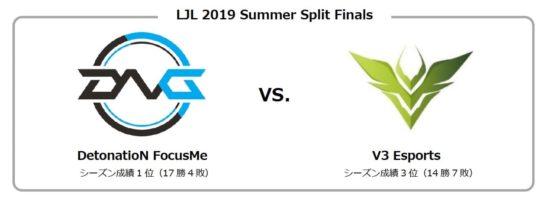 LoL国内プロリーグ決勝戦対戦カードは「DetonatioN FocusMe」と「V3 Esports」、9月16日開催