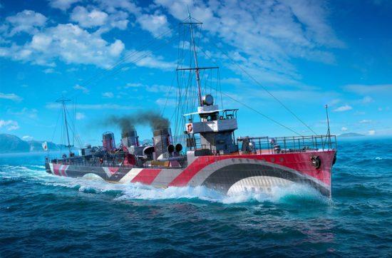 PC向けゲーム「World of Warships」とTVアニメ「ハイスクール・フリート」がコラボ、期間限定のDLCコンテンツの配信を開始