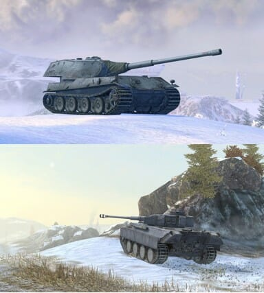 スマホ向けアクション「World of Tanks Blitz」にてクリスマスイベント開催、ドイツ重戦車が登場!