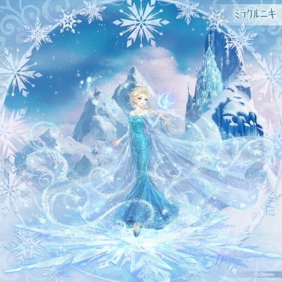 スマホアプリ「ミラクルニキ」にて「アナと雪の女王」コラボイベント開催、かわいいコーデを手に入れよう
