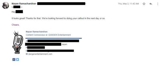 ゲームパブリッシャDANGENへの告発対して同社からの反論記事が公開