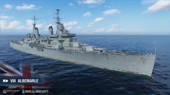 「World of Warships」イギリスの巡洋艦がアーリーアクセスで登場、「イギリス重巡洋艦」イベント開催