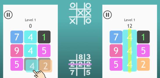シンプルで奥深い数字パズルゲーム「数字マルバツ」がリリース、戦略的に数字を足してマルバツのように消していこう!