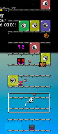 画面の向きを変えるとゲームも変わる!「ピクセルスライム3」がApp Storeで配信開始!