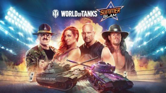 「World of Tanks Console」が「WWE」とコラボすることを発表!