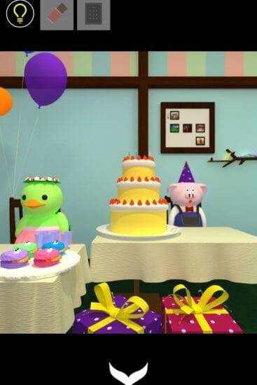 バースデーパーティー (Birthday Party) 攻略 その2(タブレットの謎~スプーン入手まで)