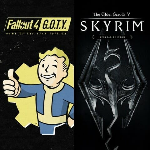 PS Storeにて「Skyrim Special Edition + Fallout 4 G.O.T.Y. Bundle」が60%オフなど