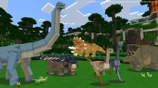 「Minecraft」新コンテンツパック「ジュラシック・ワールド」が配信開始!