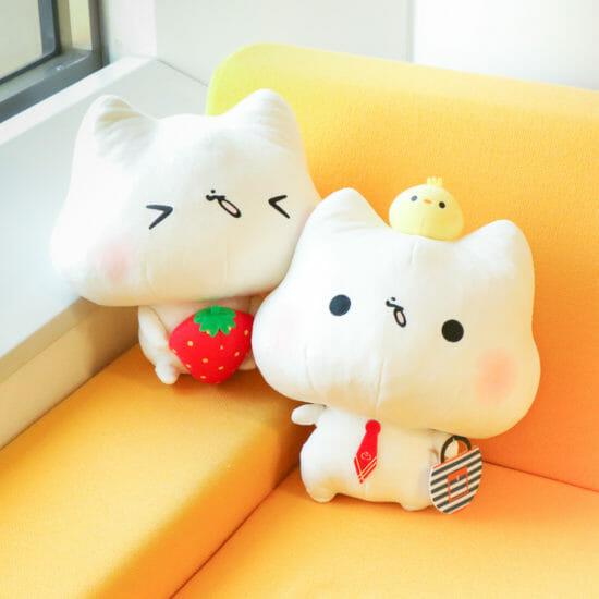 灯さかすの描く猫のキャラクター「ましまろう」が「トレバ」に登場!