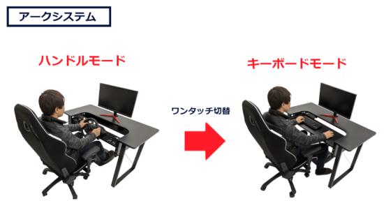 ゲーミングデスク「ARCdesk mini」が98,000円が78,000円に価格改定!