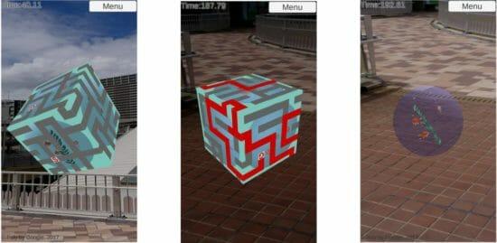箱の表面上で遊ぶ新感覚迷路「ハコめいろAR Free」がGoogle Playで配信開始!