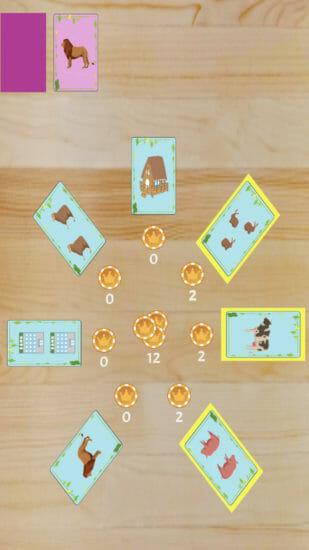 増やしたコインで動物を集めるボードゲーム「アニマルコレクション」がアプリストアで配信開始!