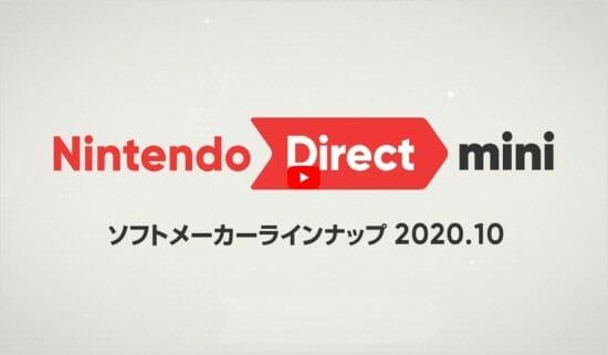 最新情報が盛りだくさん!「Nintendo Direct mini ソフトメーカーラインナップ 2020.10」公開!