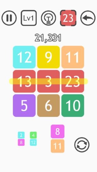 数字を揃えて消すだけの中毒パズルゲーム「ソロエケス」がアプリストアで配信開始!