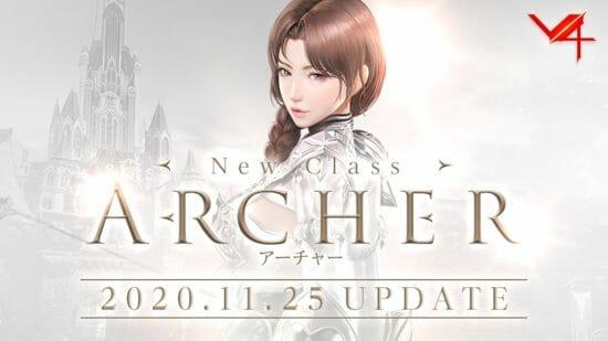 MMORPG「V4」に新クラス「アーチャー」、新バトルコンテンツ「聖物争奪戦」が実装!